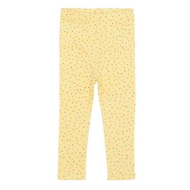 Paula Organic Cotton Baby Legging Yellow Soft Gallery Fashion