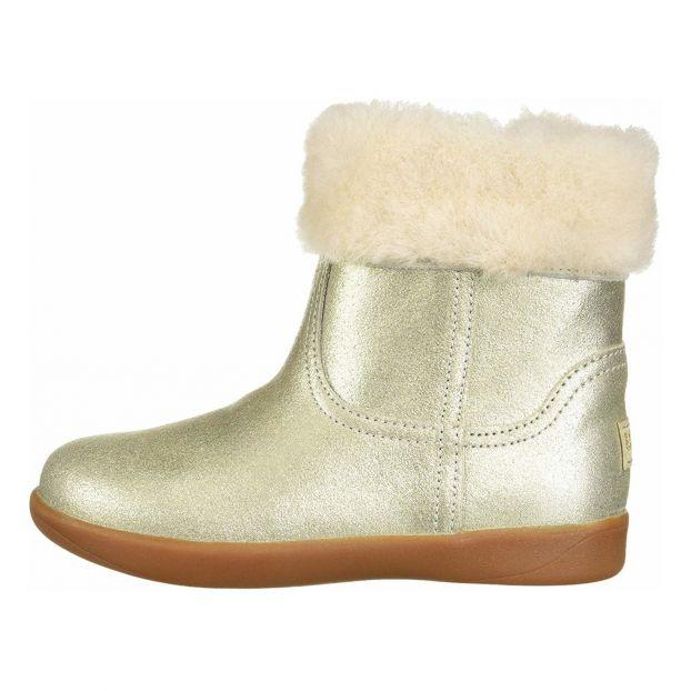 Jorie II metallic suede and sheepskin boots