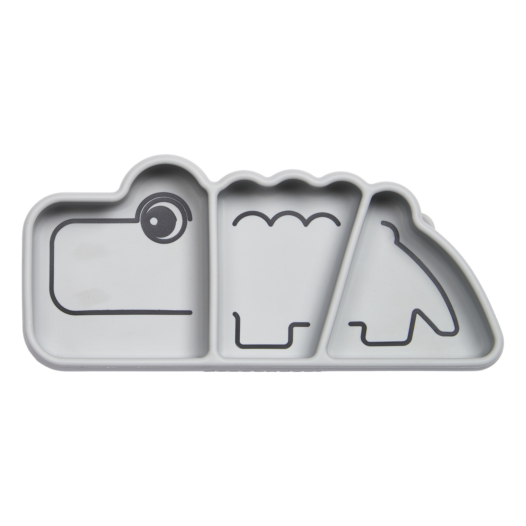 Plan De Travail Mobile croc silicone plate grey donedeer design children
