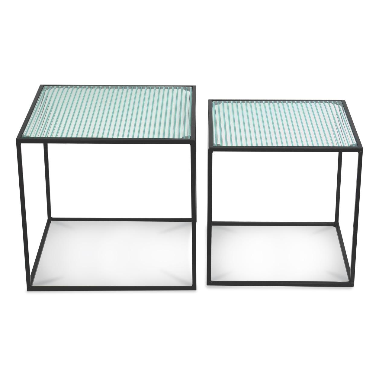 Tables basses gigognes en verre - Set de 2