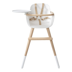 product-Micuna OVO LUXE ONE high chair with beige imitation leather harness