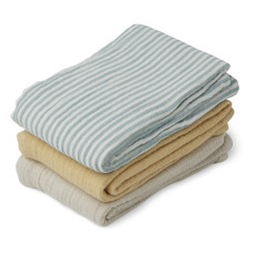 product-Liewood Swaddles in organic cotton - set of 3