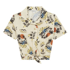 product-Hundred Pieces Camisa nudo delantero Hawai
