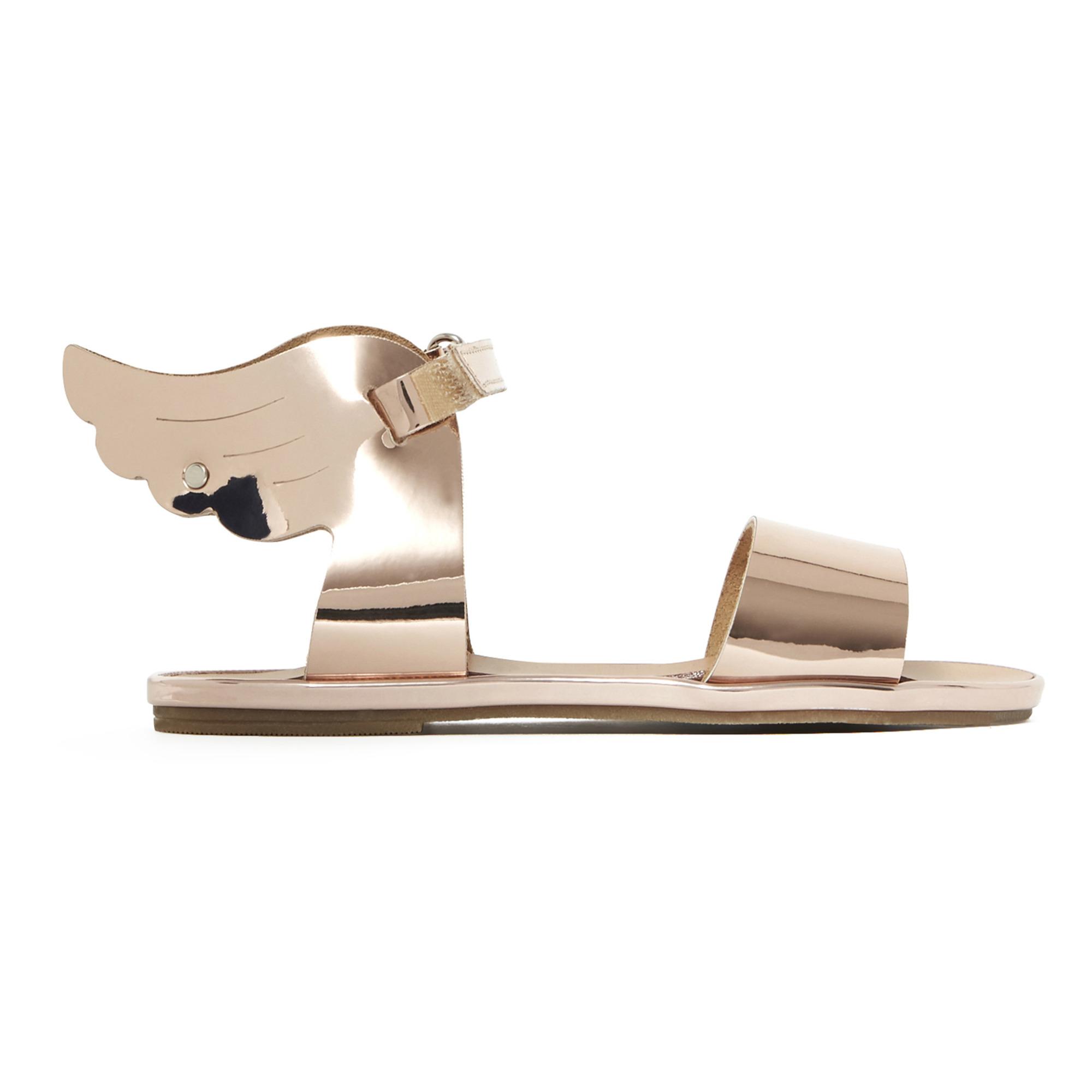 Sandales Métallisées Ailées