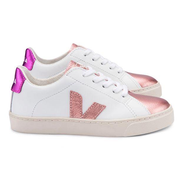Esplar Leather Trainers Pink Veja Shoes