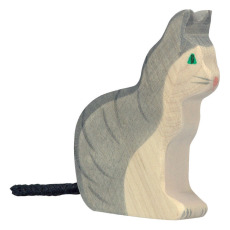 product-Holztiger Sitting cat wooden figurine