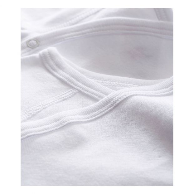 Petit B/éguin Pack of 2 baby girls long-sleeved bodysuits cotton.
