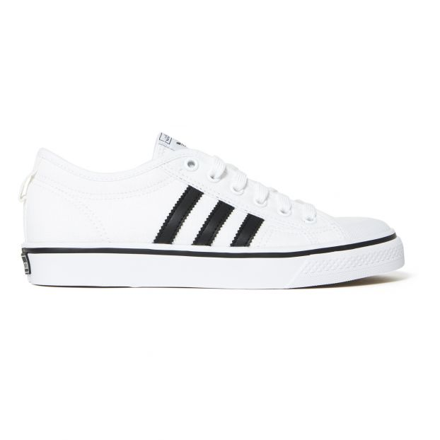 Nizza Canvas Trainers White Adidas