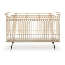 product-Bermbach Handcrafted Paul Handmade Rattan Crib 70x130 cm