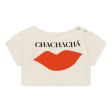 product-Bobo Choses Organic Cotton Cropped Chachacha Sweatshirt