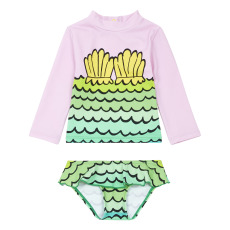 product-Stella McCartney Kids Siren baby recycled nylon UV-protection t-shirt + boxer shorts