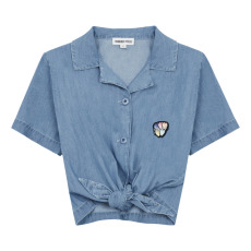 product-Hundred Pieces Chambray Tie-Up Shirt