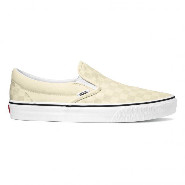 Sneakers Checkerboard Classic Slip-On - Collezione Donna - Ecru