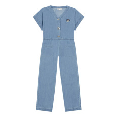 product-Hundred Pieces Chambray Loose Dungarees