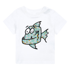 product-Stella McCartney Kids Fish organic cotton t-shirt