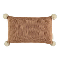 product-Nobodinoz Coussin tricoté So Natural en coton bio