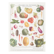product-Les Jolies Planches Vegetable garden print 60x80 cm