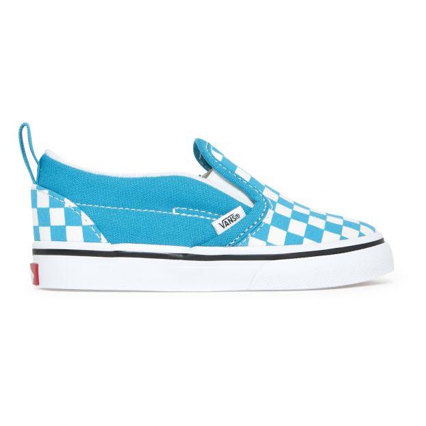 Checkerboard Slip-Ons Blue Vans Shoes
