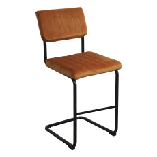 product-Present Time Velvet Bar Stool
