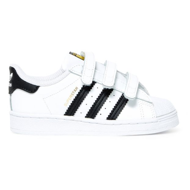 Superstar 3 velcro trainers White Adidas Shoes Children