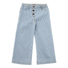 product-Tocoto Vintage Striped Flare Jean