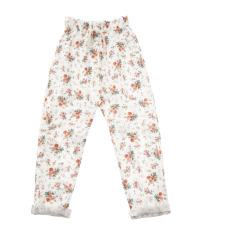 product-Tocoto Vintage Floral Linen and Cotton Trousers