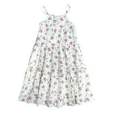 product-Tocoto Vintage Floral Cotton and Linen Maxi Dress