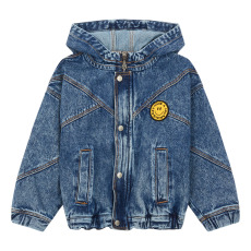 product-Hundred Pieces Zip-Up Oversized Denim Jacket