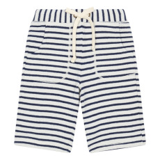 product-Zhoe & Tobiah Striped Fleece Bermuda Shorts