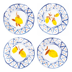 product-&Klevering Assiettes marocaines citrons - Set de 4