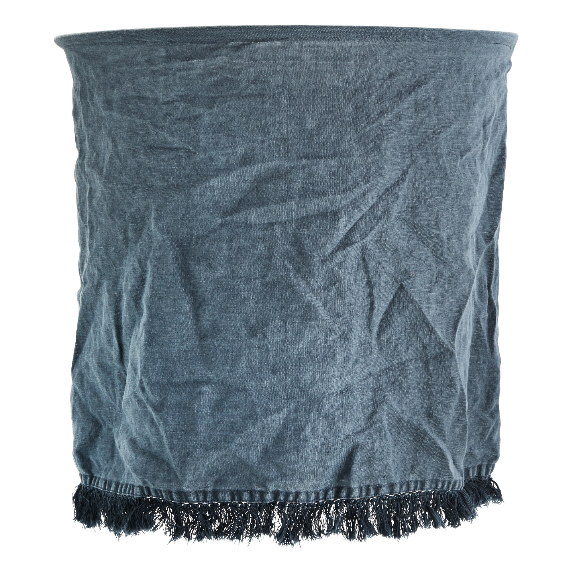 Abat-jour in lino con frange