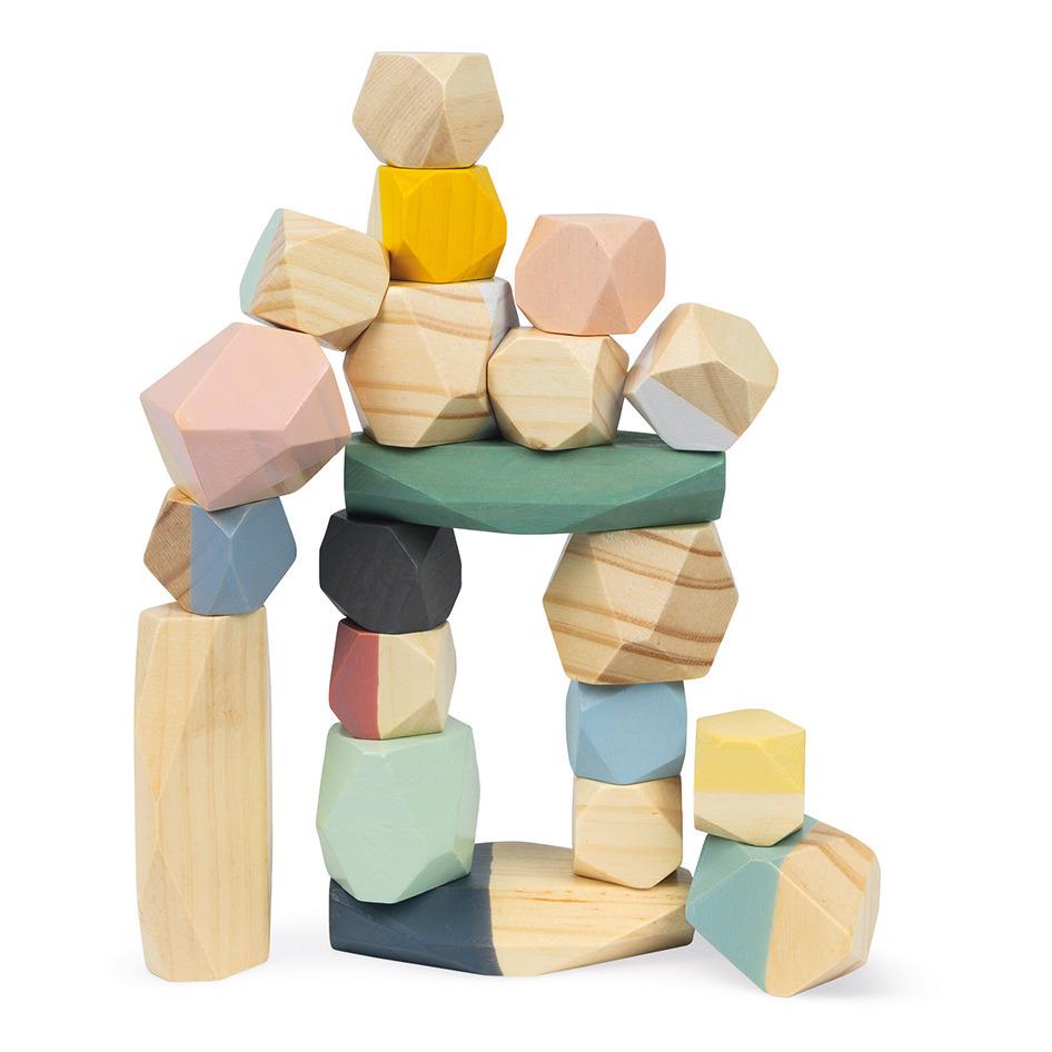 Janod - Pierres à empiler - Multicolore