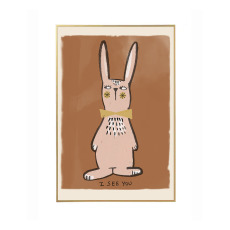 product-Studio Loco Grande affiche Lapin I see you
