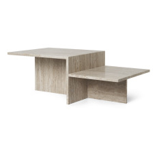 product-Ferm Living Table basse Distinct en travertin