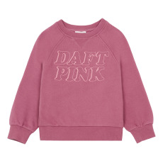 product-Hundred Pieces Daft Pink Sweatshirt, Organic Cotton
