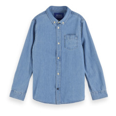 product-Scotch & Soda Chemise Denim Coton Bio