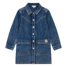 product-Hundred Pieces Shirt Dress, Denim