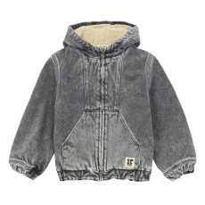 product-Hundred Pieces Jacket, Denim & Faux Fur