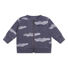 product-Bobo Choses Sweat Zippé Clouds Coton Bio Bébé