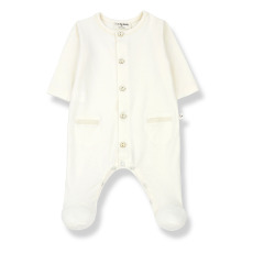 product-1+ in the family Alizee Footed Jumpsuit in Organic Cotton