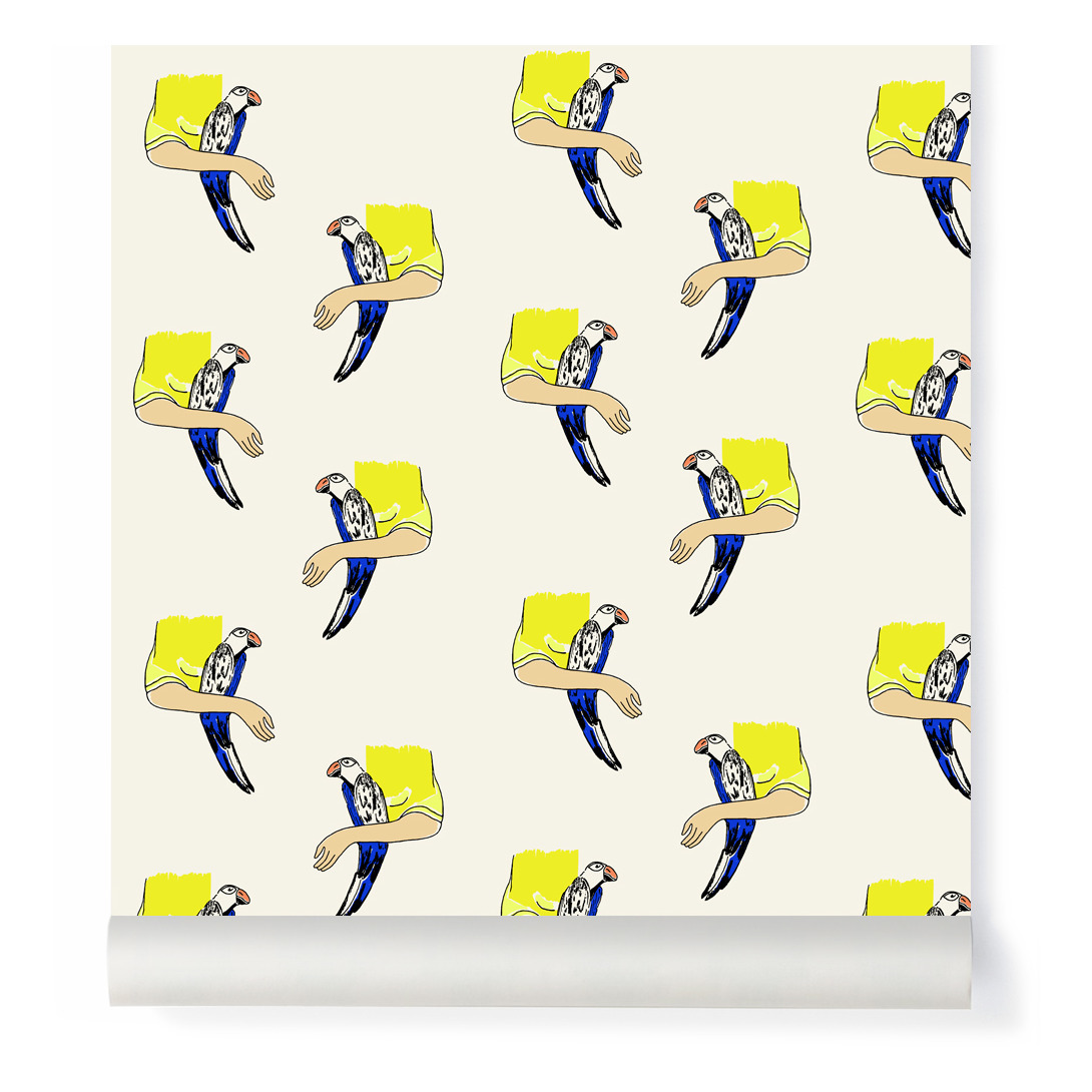 Bird Wallpaper Fresco 2 rolls 204x280cm