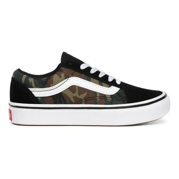 Old Skool Camouflage Sneakers Dark green Vans Shoes Teen ,