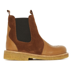 product-Angulus Bi-material Chelsea Boots