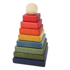 product-Wooden Story Stacking Pyramid Puzzle