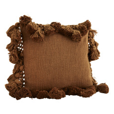 product-Madam Stoltz Cushion Cover with Pompoms