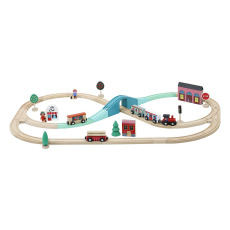 product-Vilac Ingela P. Arrhenius Grand Express Train Route Toy