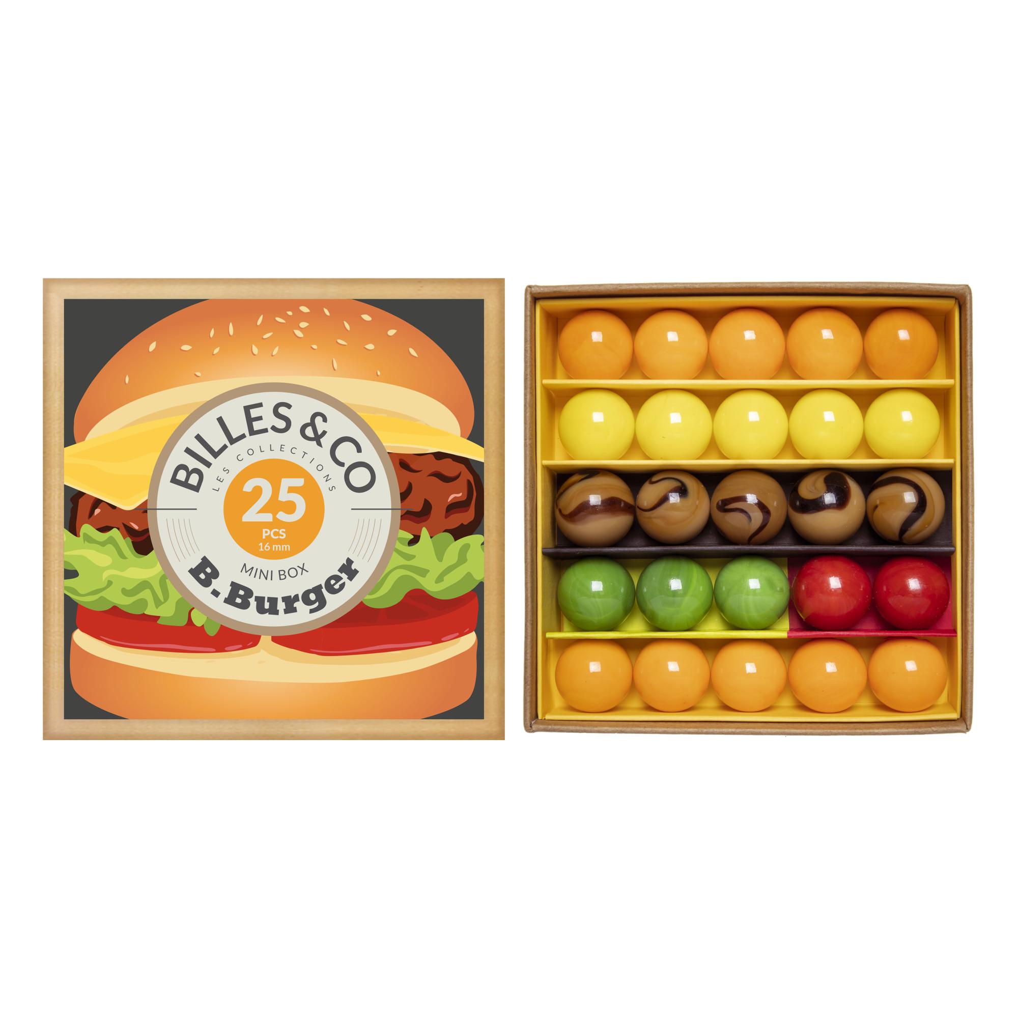 Billes & Co - Coffret de 25 billes B-Burger - Multicolore