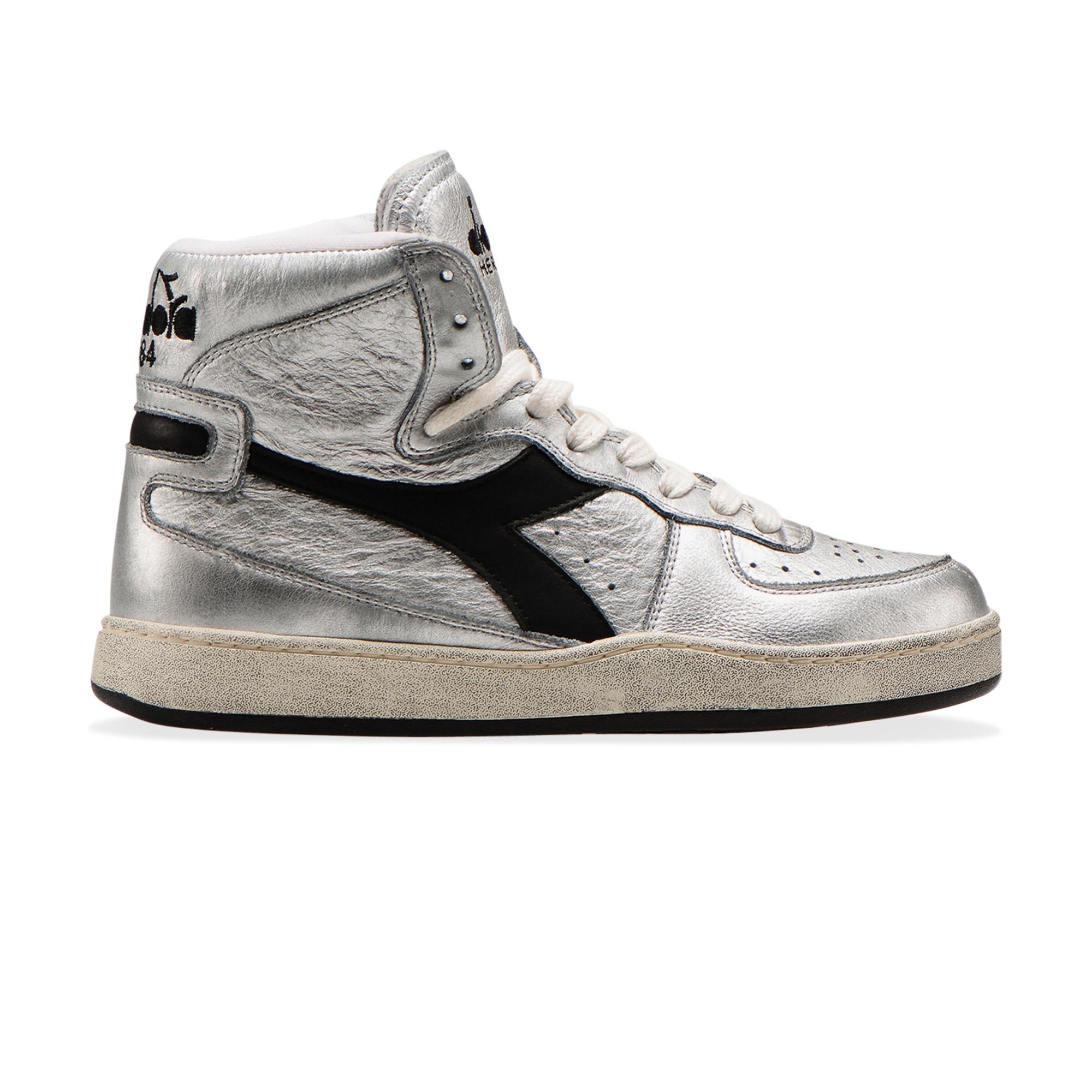 Silver High-Top Sneakers Silver Diadora