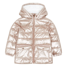 product-Carrement Beau Recycled Nylon Metallic & Faux Fur Lined Puffer Jacket