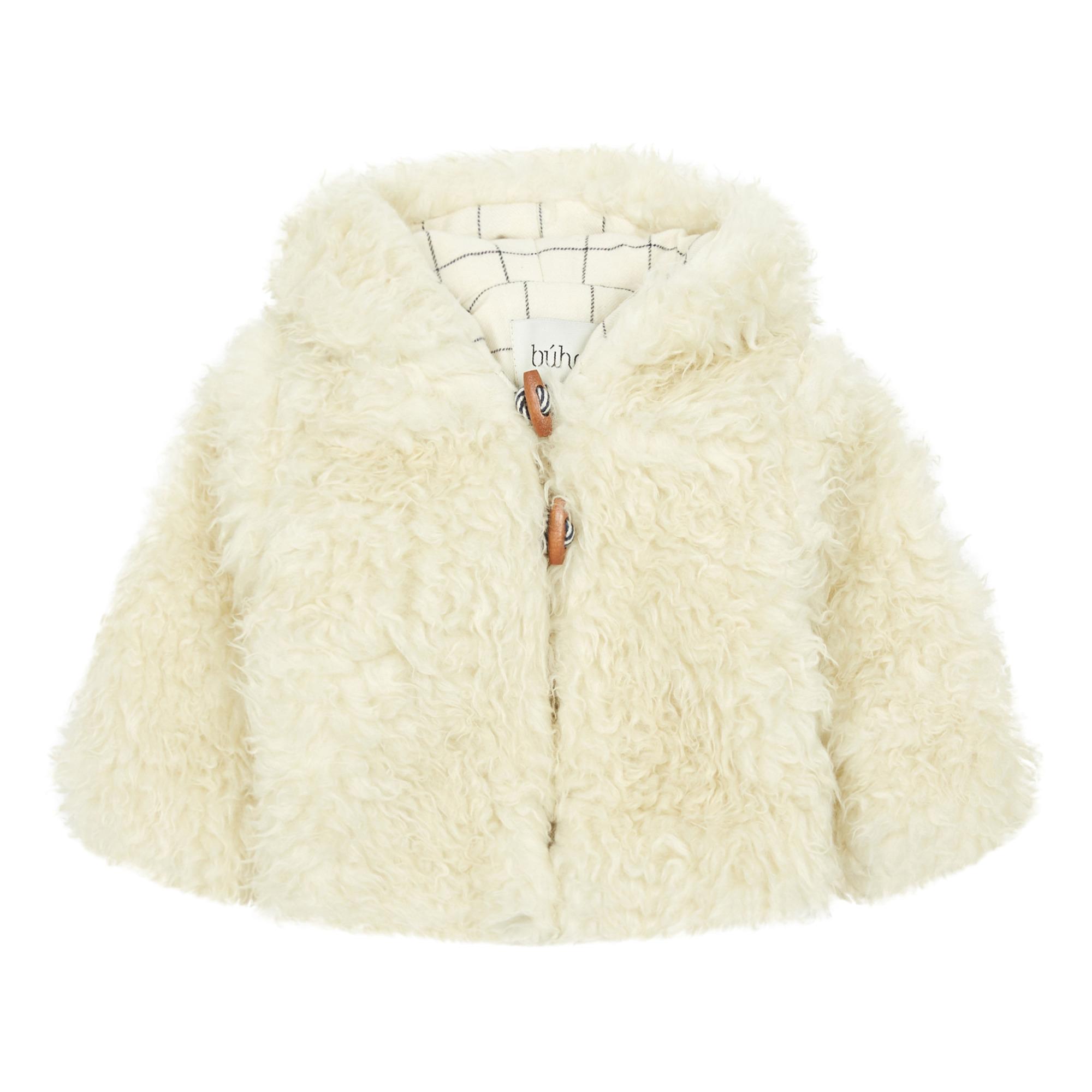 V Neck Long Sleeve Faux Fur Coat